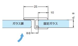 ドア戸先ストッパーシール(8856KUO-8-2500)